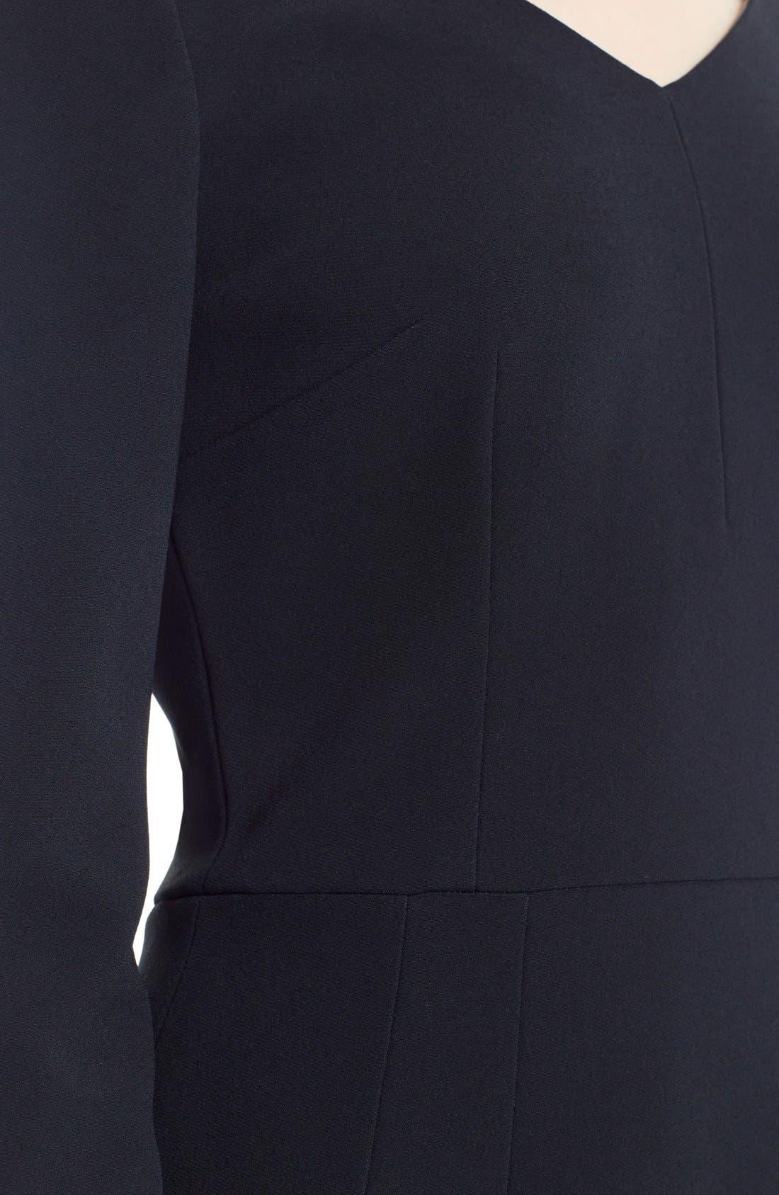 Alternate Image 5  - Dolce&Gabbana V-Neck Cady Sheath Dress