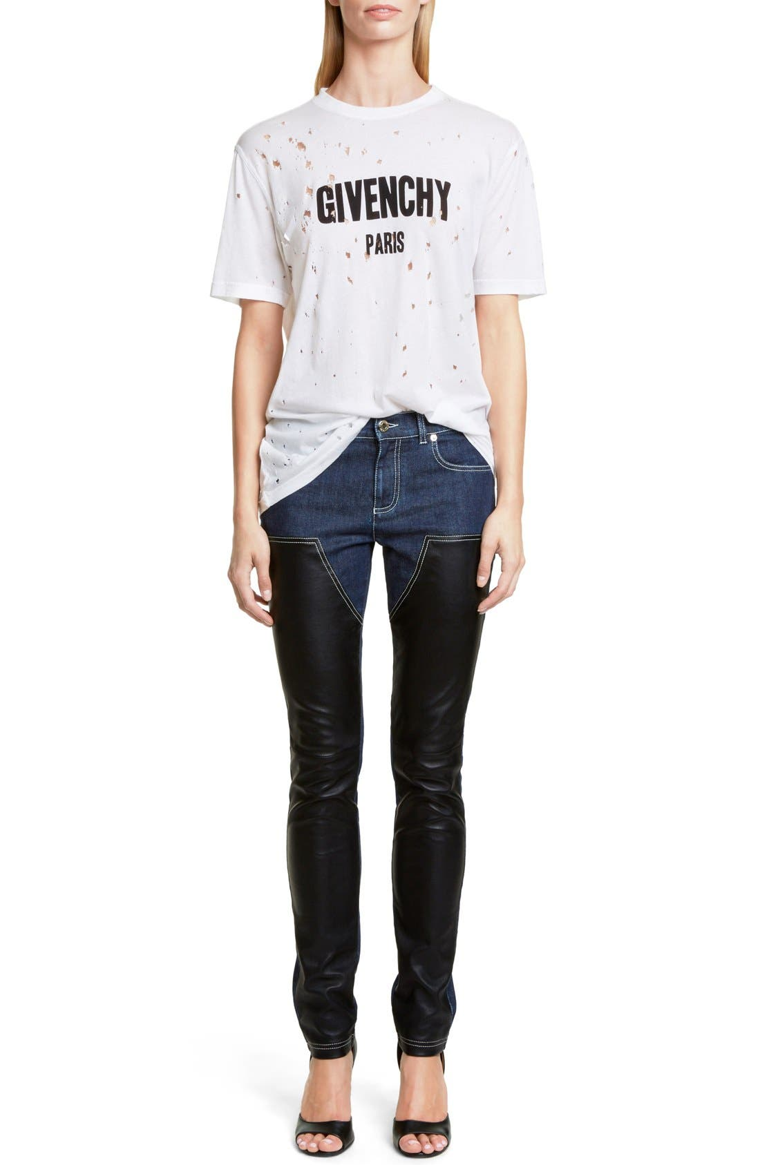 Alternate Image 1 Selected - Givenchy Destroyed Cotton Tee