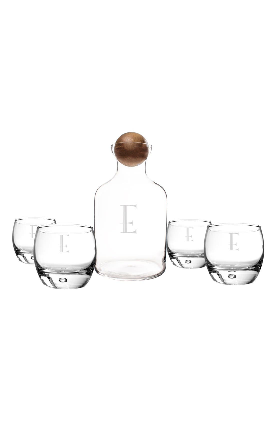 CATHY'S CONCEPTS Personalized Glass Decanter & Glasses