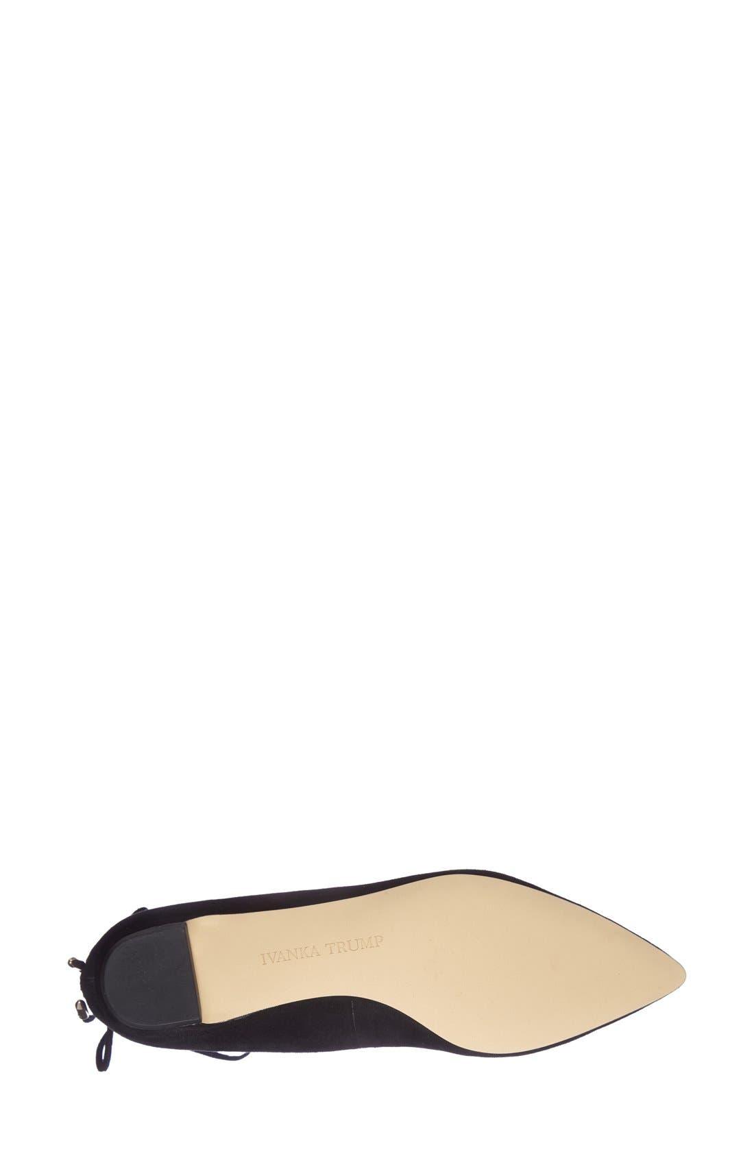 Alternate Image 4  - Ivanka Trump 'Tropica' Pointy Toe Ghillie Flat (Women)