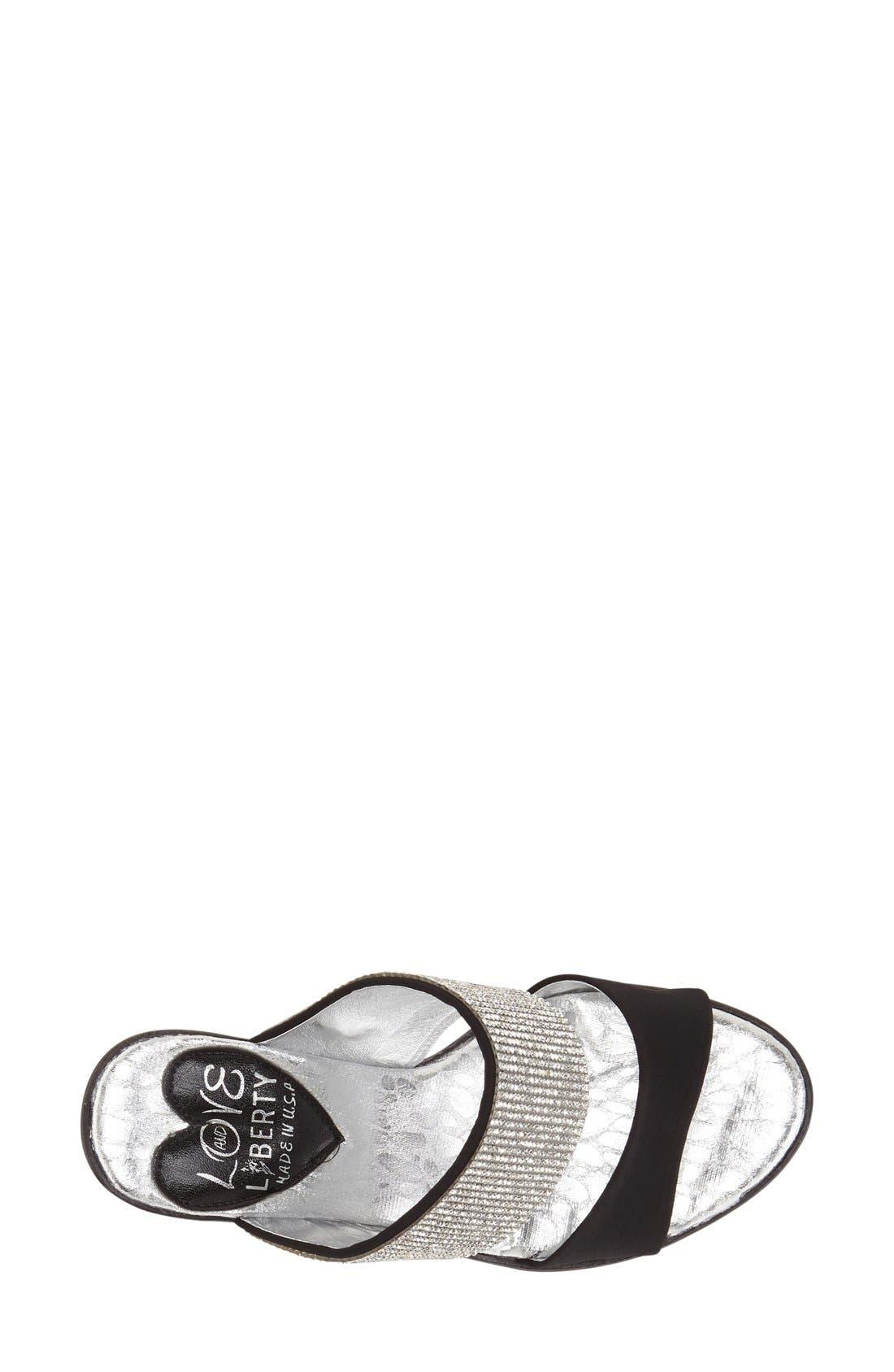 Alternate Image 3  - Love and Liberty 'Dakota' Crystal Embellished Double Band Sandal (Women)
