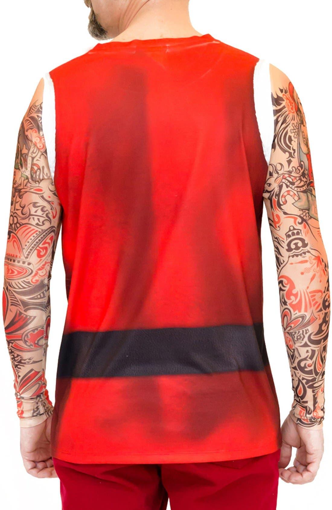 Alternate Image 4  - FauxReal 'Tattoo Santa' Novelty Graphic T-Shirt (Men)