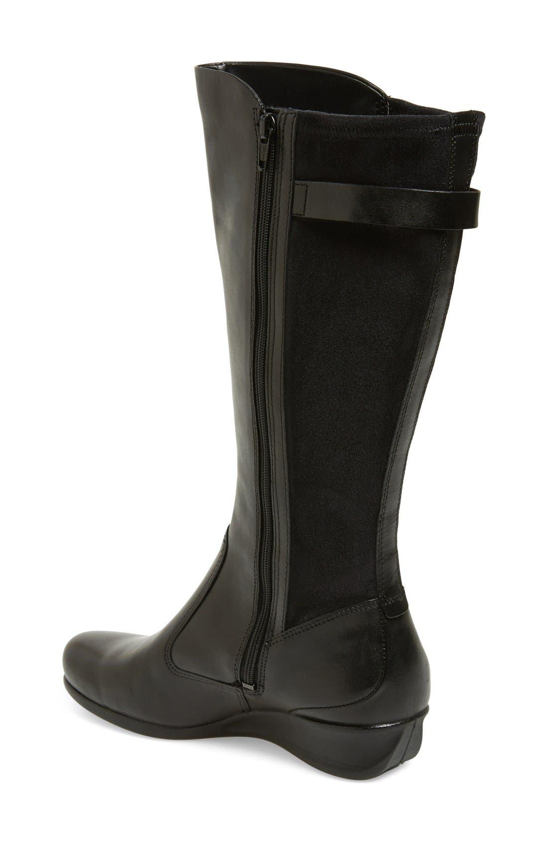 Alternate Image 2  - ECCO 'Abelone Tall' Stretch Back Wedge Boot (Women)