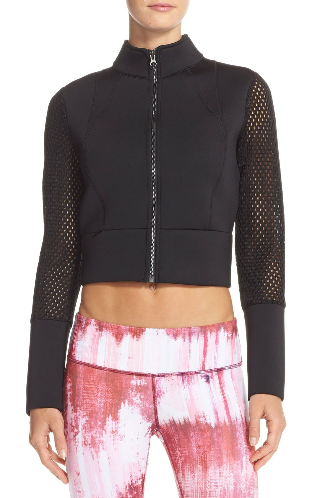 Alo Perforated Scuba Crop Jacket