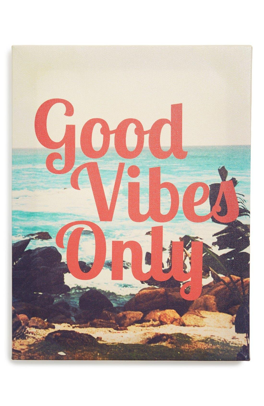 Main Image - Ankit 'Good Vibes Only' Wall Art