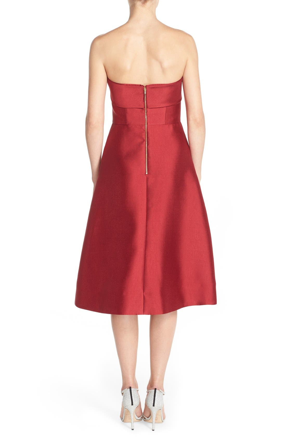 Alternate Image 2  - ERIN erin fetherston 'Katie' Bow Neck Twill Fit & Flare Dress