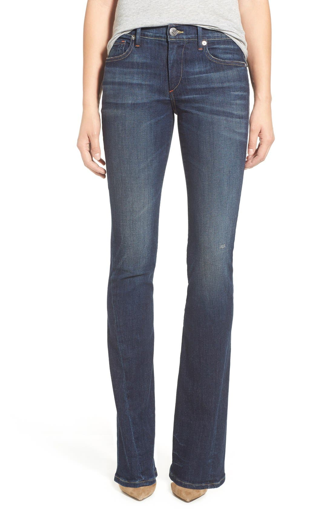 Alternate Image 1 Selected - True Religion Brand Jeans 'Becca' Twisted Seam Bootcut Jeans (Boyfriend Wash)