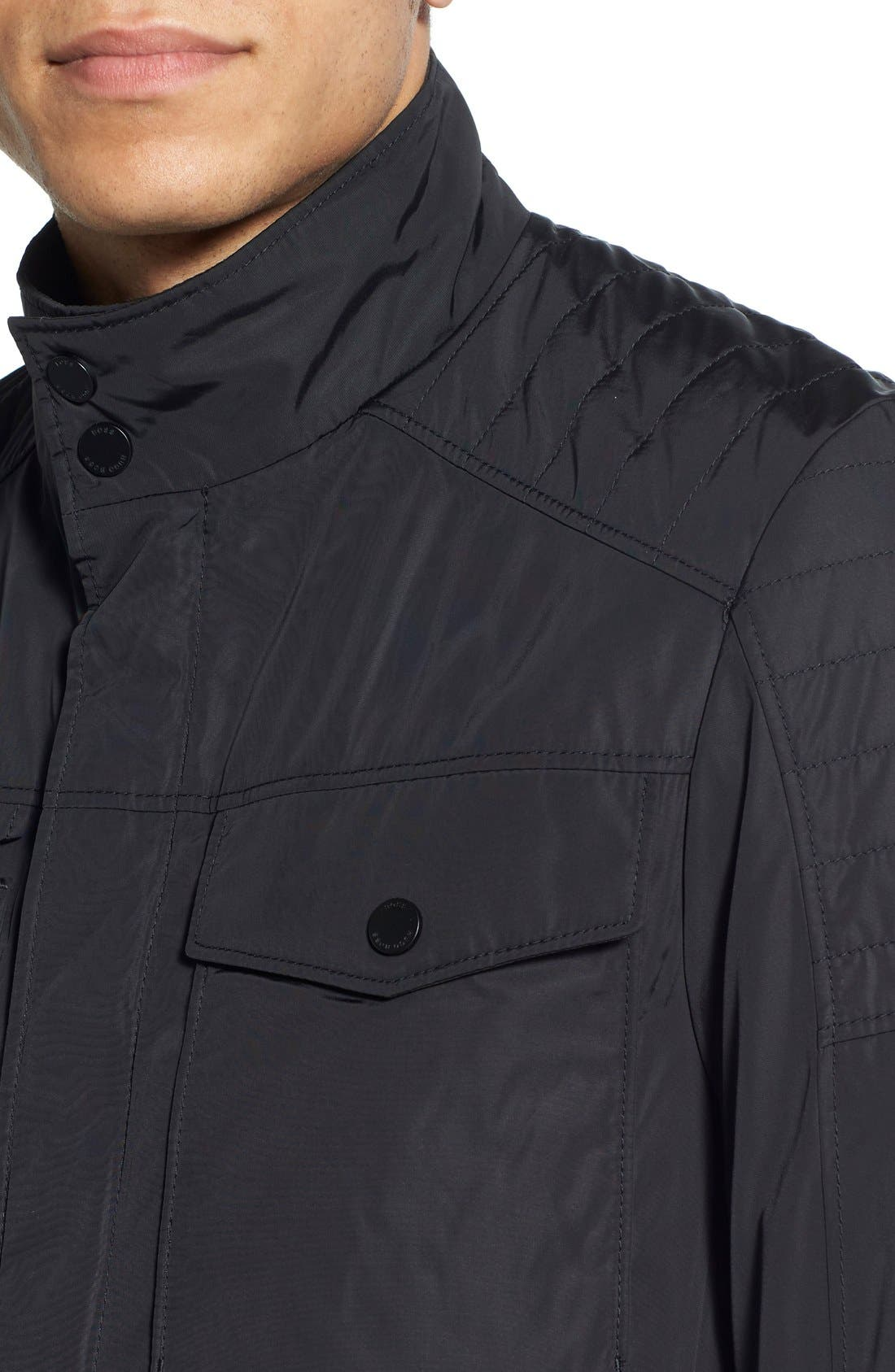 Alternate Image 4  - BOSS 'Cirby' Regular Fit Quilted Moto Jacket