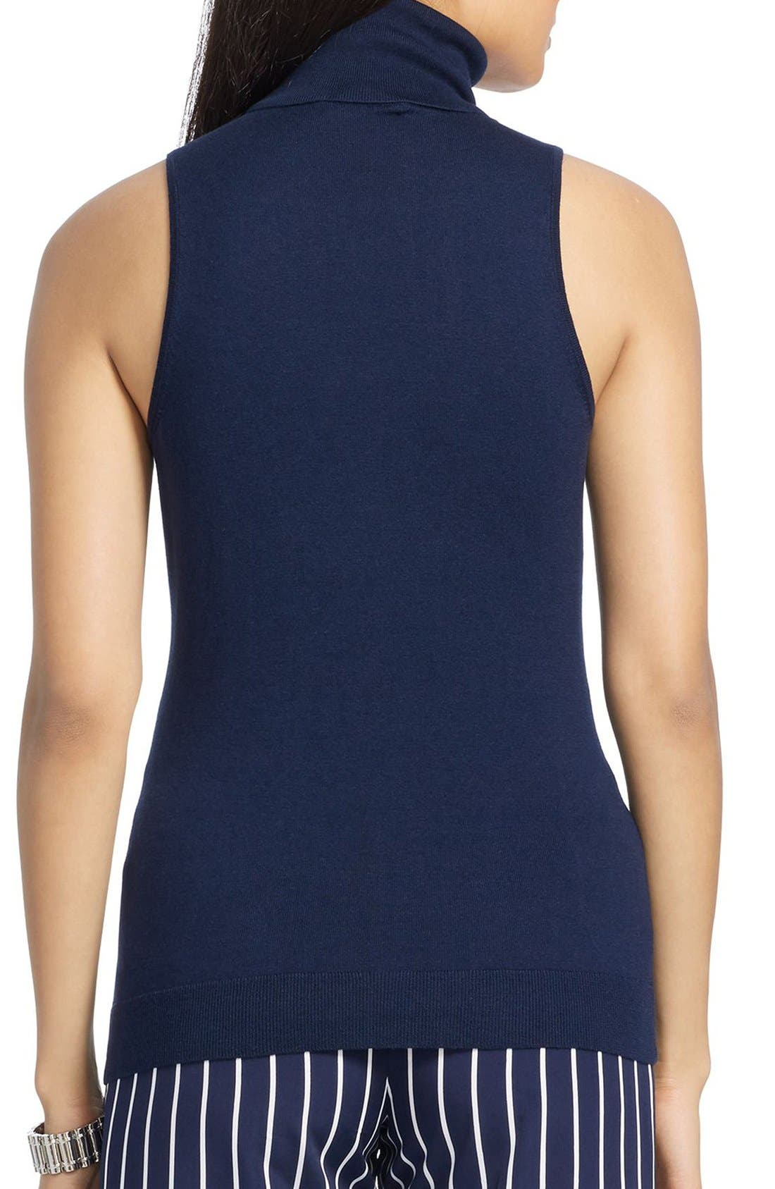 Alternate Image 2  - Lauren Ralph Lauren Silk Blend Sleeveless Turtleneck Sweater