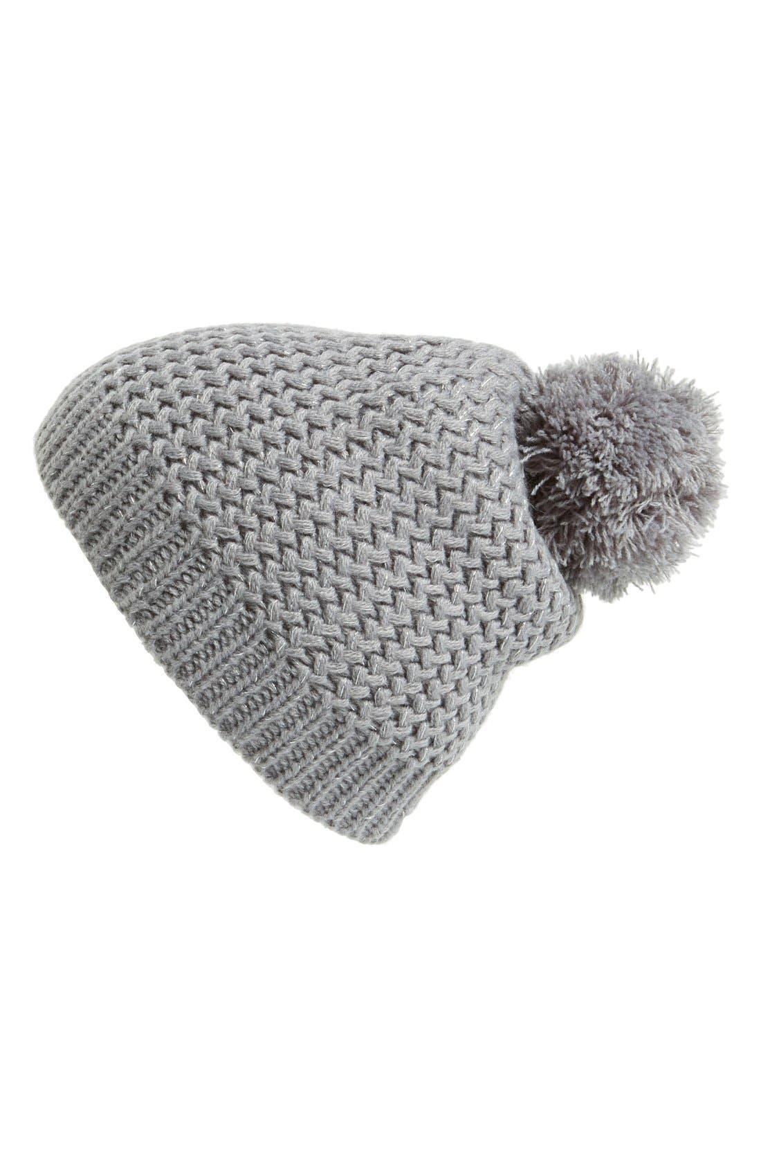 Alternate Image 1 Selected - Capelli of New York Metallic Knit Beanie