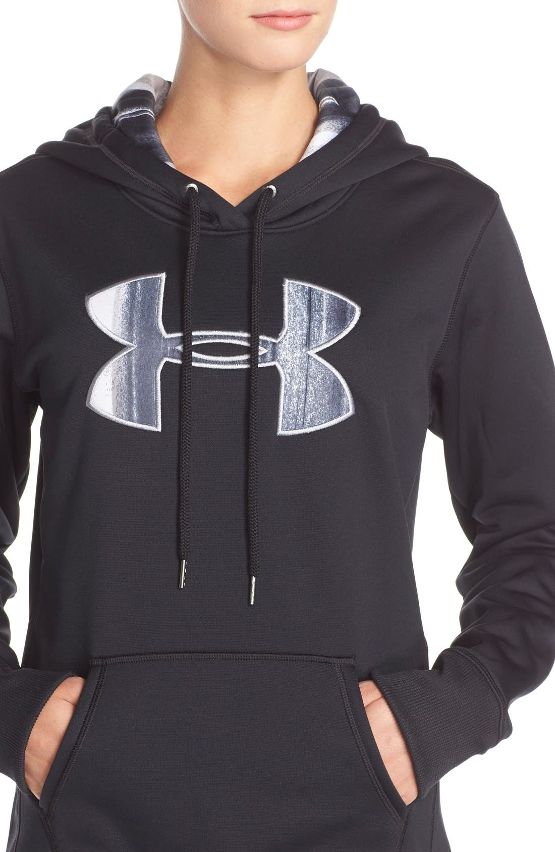 Alternate Image 4  - Under Armour Logo Hoodie