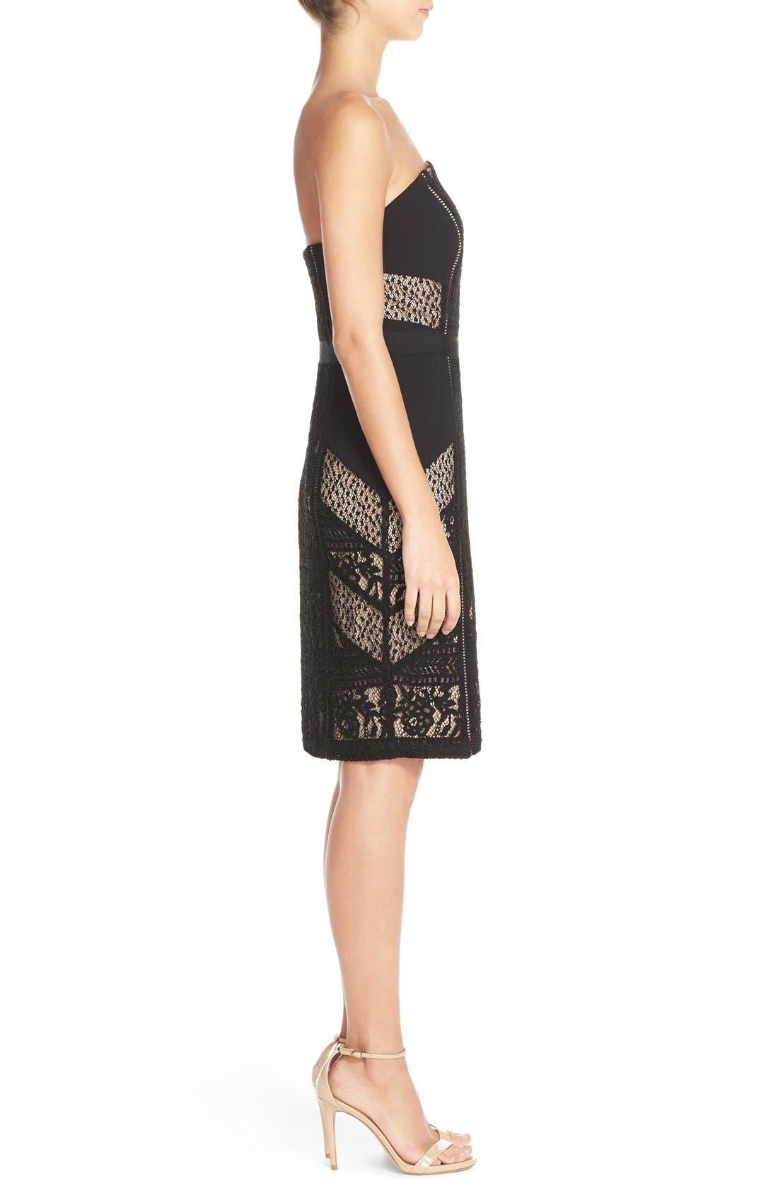 Alternate Image 3  - Adelyn Rae Lace Strapless Dress
