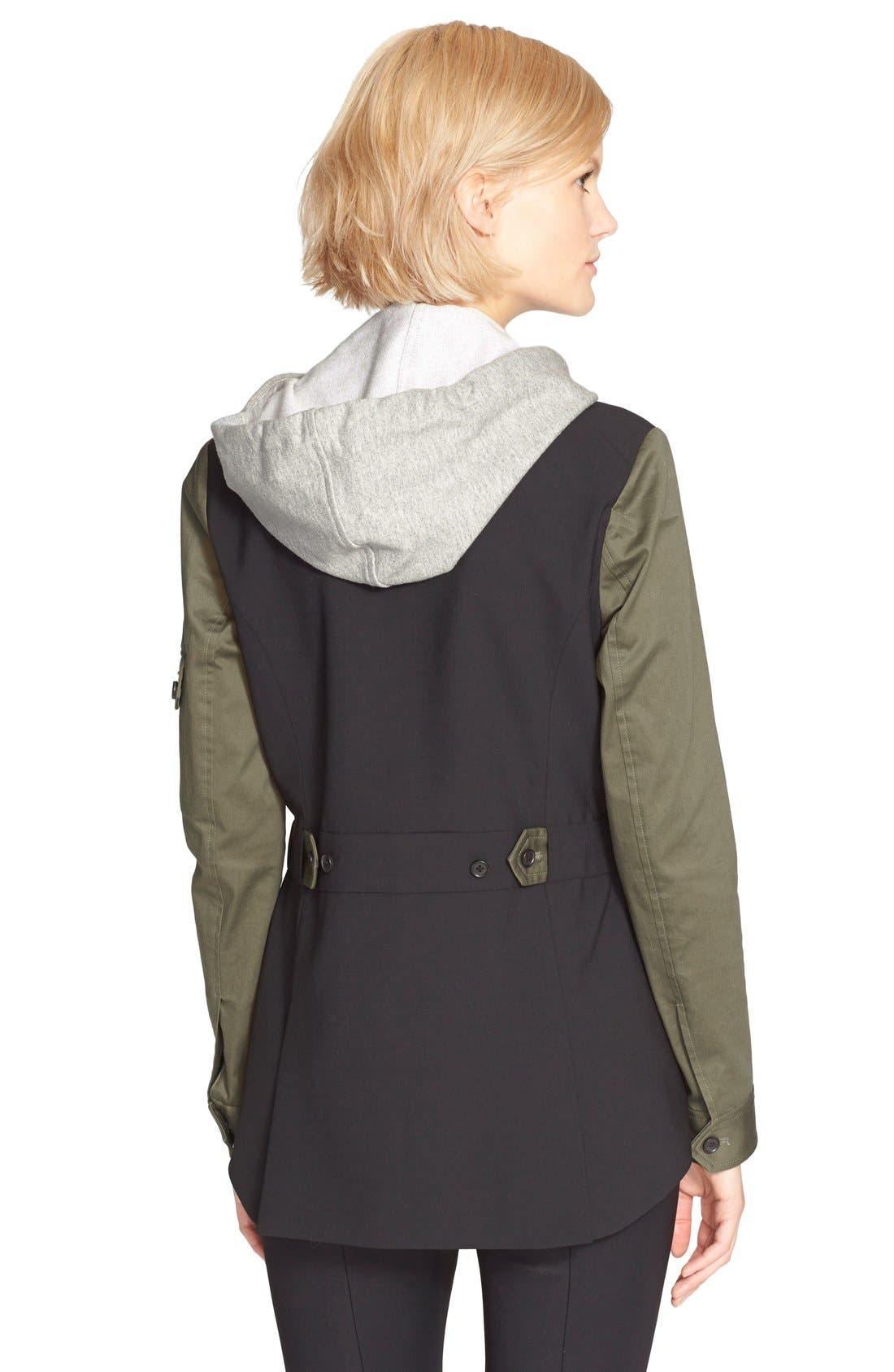 Alternate Image 2  - Veronica Beard Army Jacket with Removable Hooded Dickey
