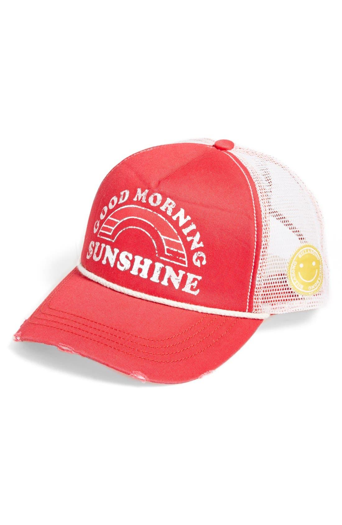 Alternate Image 1 Selected - Billabong 'Good Morning Sunshine' Trucker Hat