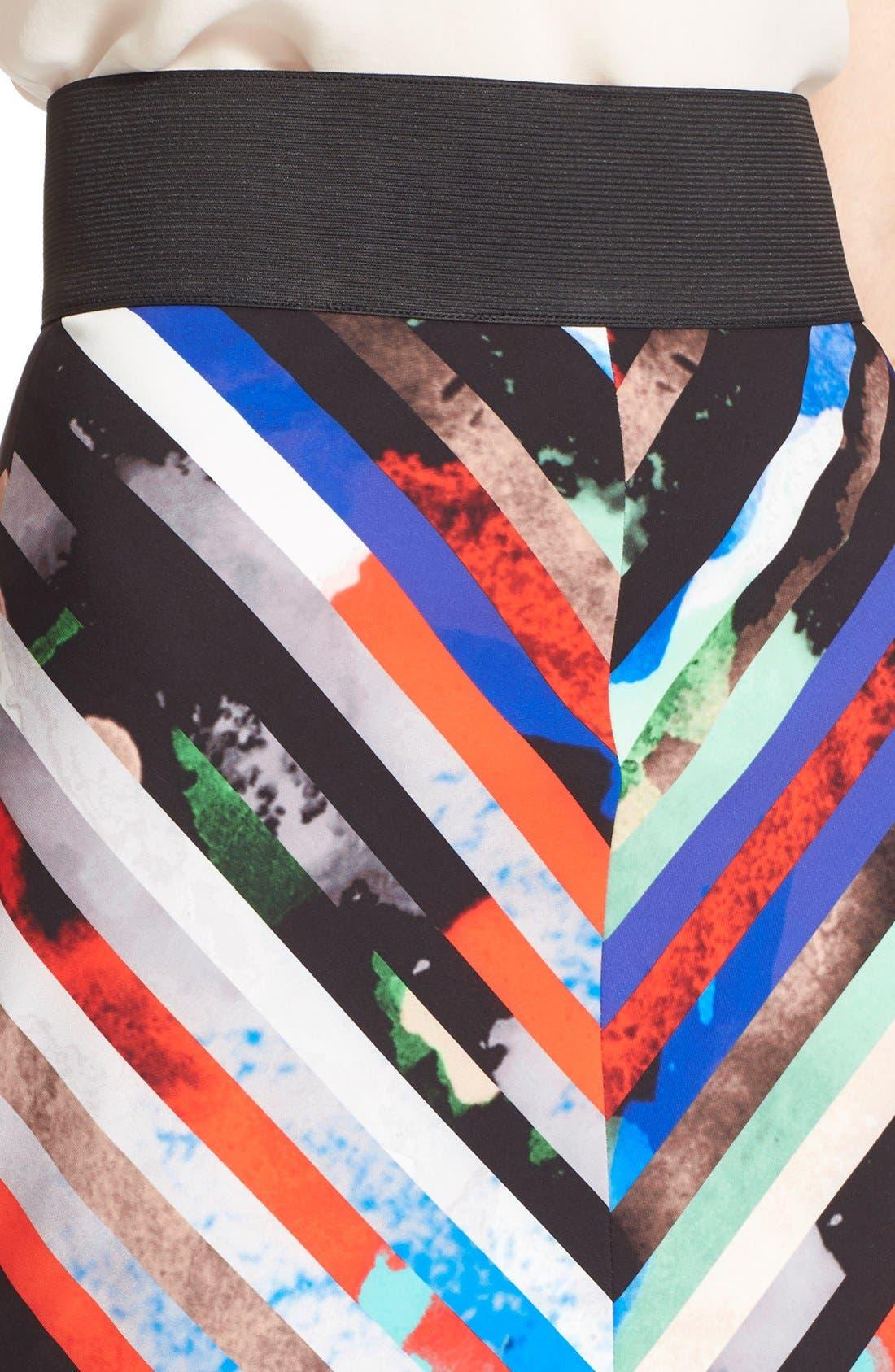 Alternate Image 5  - Milly 'Mirage Stripe' Pencil Skirt