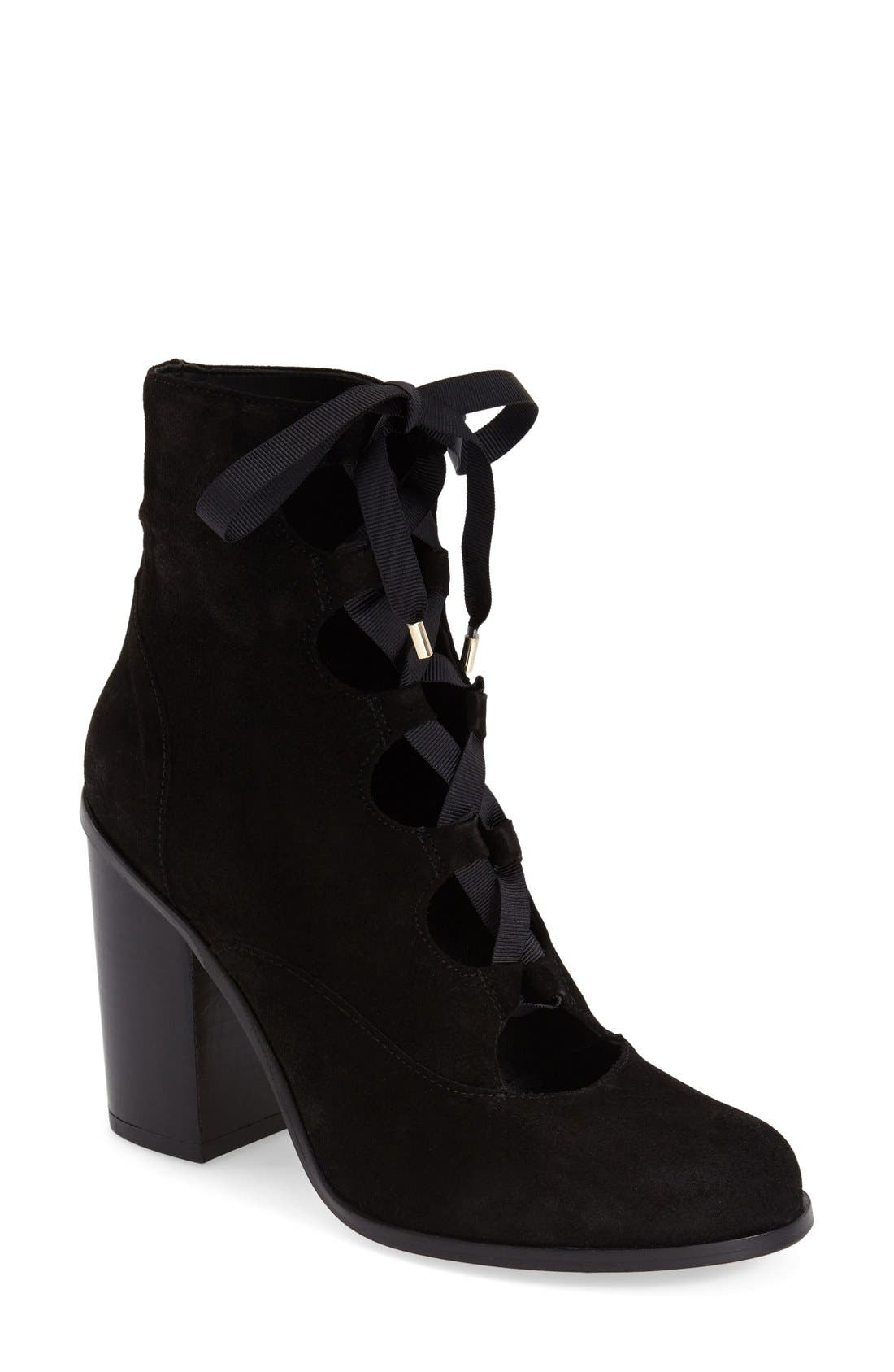 Alternate Image 1 Selected - Topshop 'Magpie' Ghillie Boot (Women)