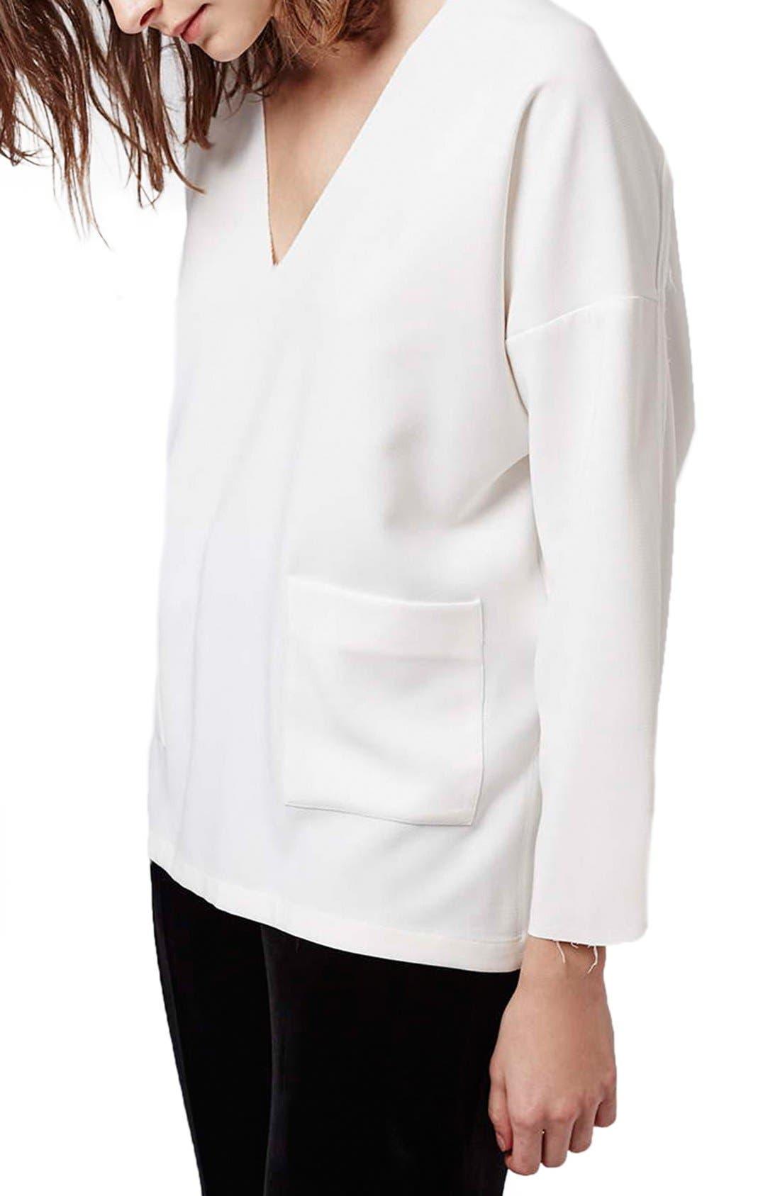 Alternate Image 1 Selected - Topshop Oversize V-Neck Sweater