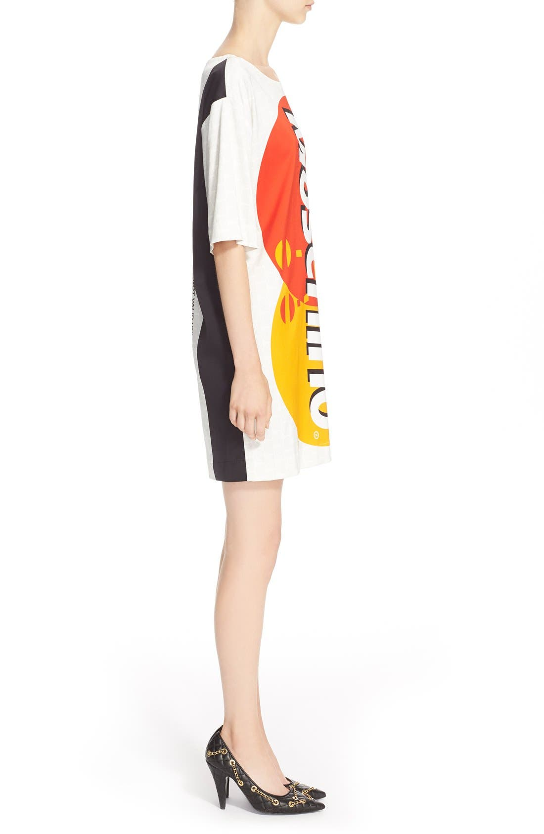 Alternate Image 5  - Moschino Credit Card Print Satin Dress