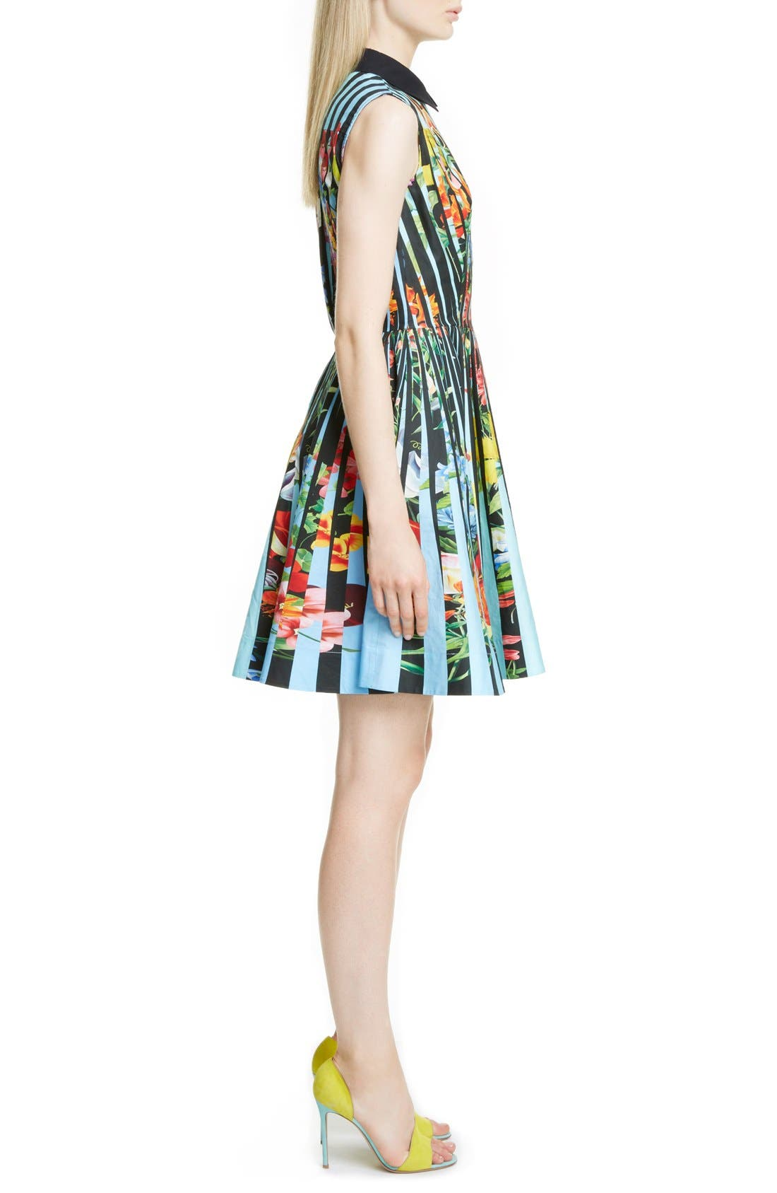 Alternate Image 4  - Mary Katrantzou Techno Flower Print Cotton Shirtdress