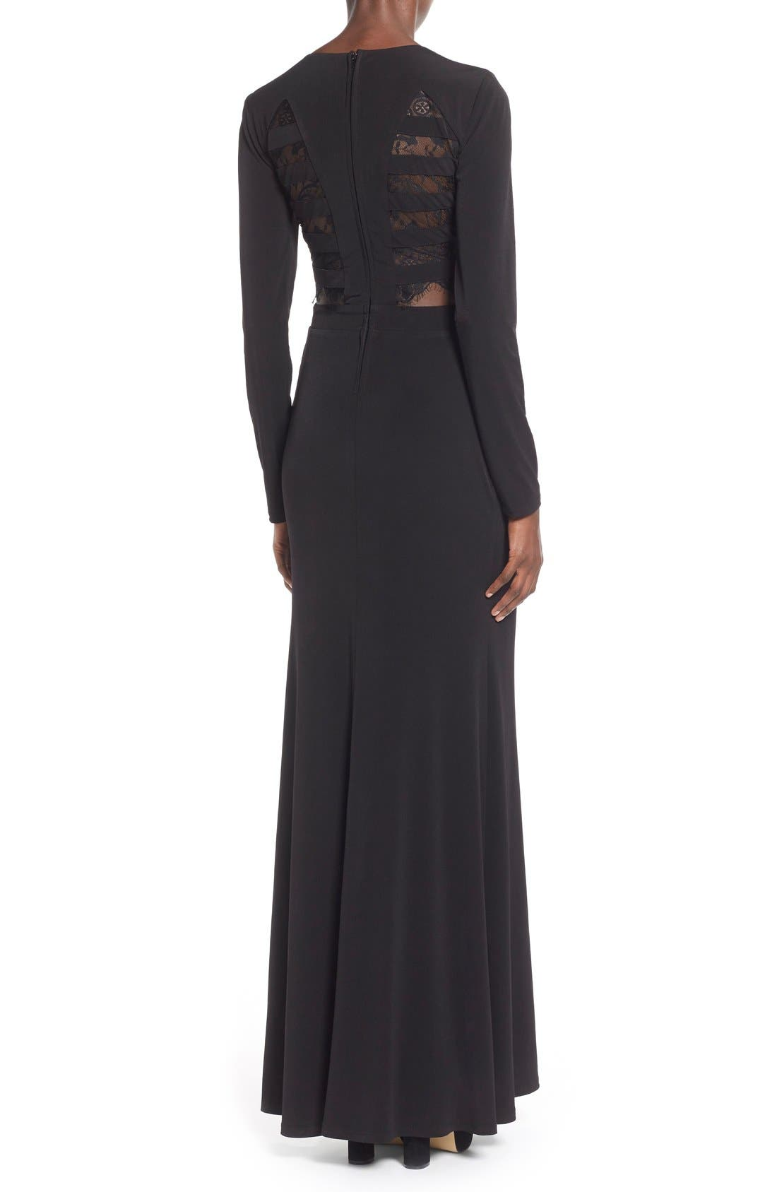 Alternate Image 2  - Way-In 'Sam' Cutout Long Sleeve Gown