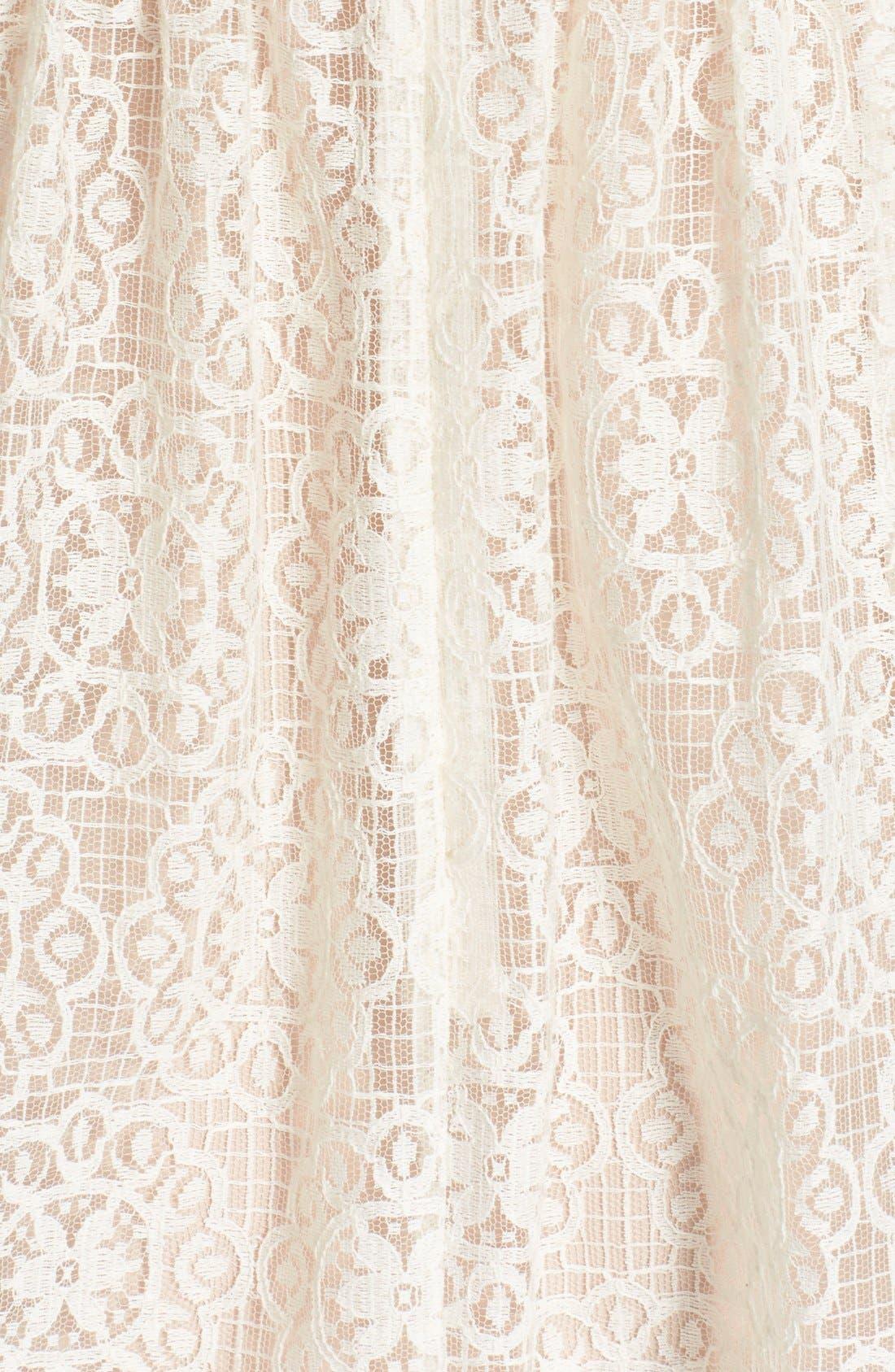 Alternate Image 5  - RED Valentino Smocked Bodice Lace Dress