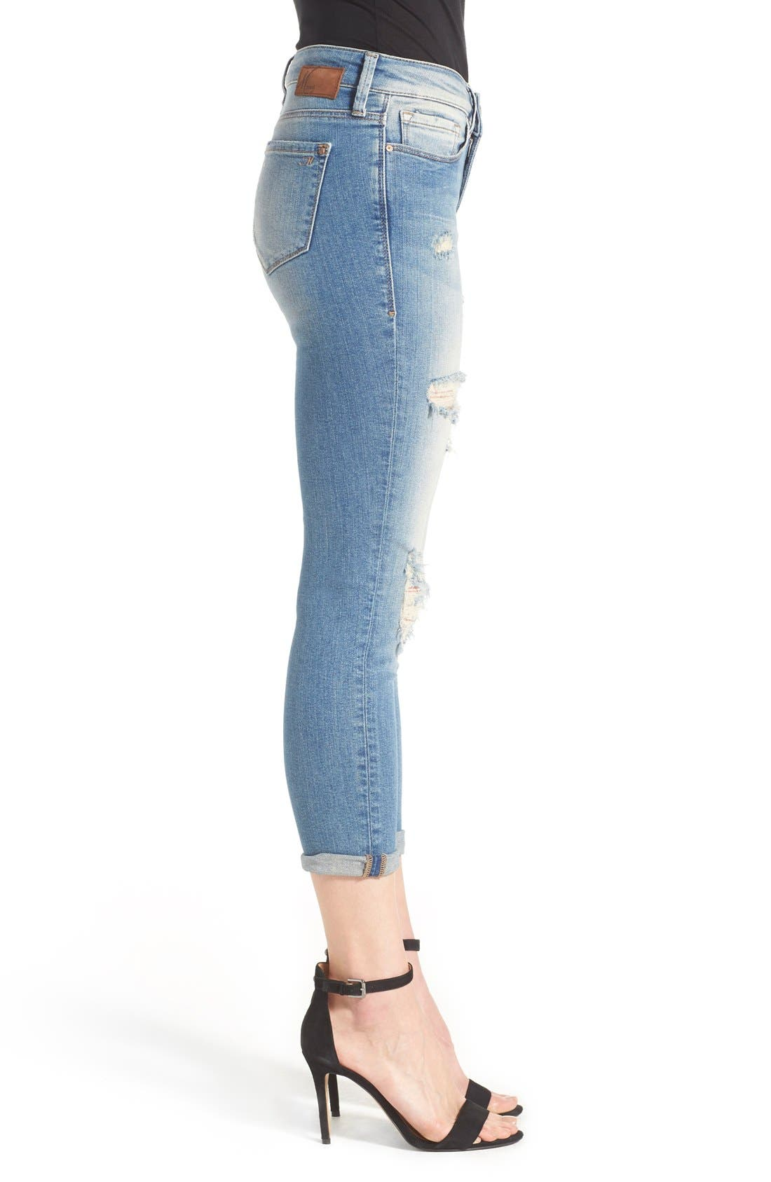 Alternate Image 3  - Mavi Jeans 'Ada' Destroyed Stretch Boyfriend Jeans (Ripped Vintage)