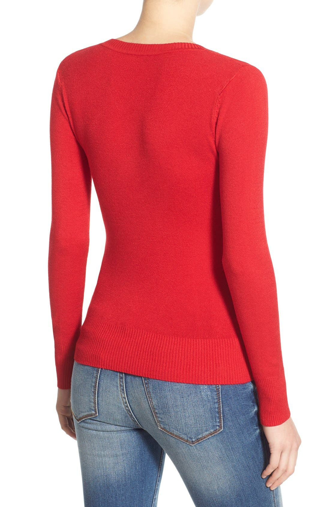 Alternate Image 2  - Dreamers by Debut Skivvy Sweater (Juniors)