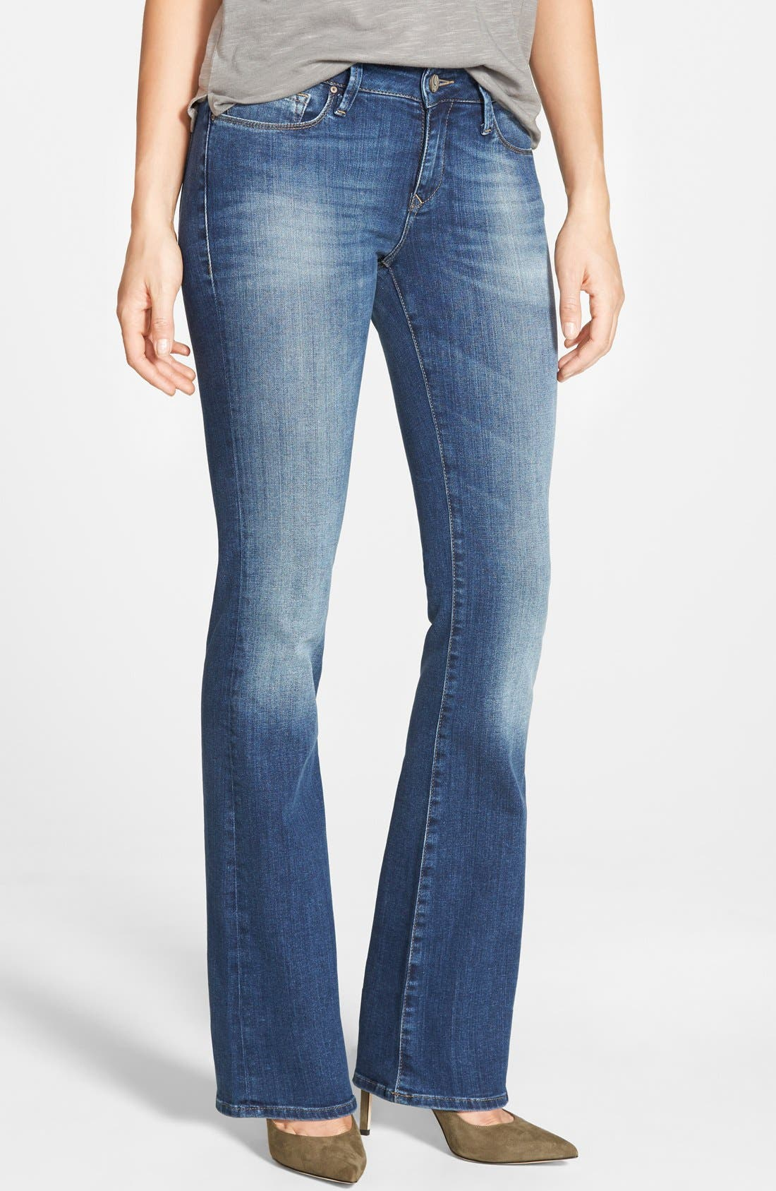 Mavi Jeans 'Ashley' Stretch Bootcut Jeans (Tribeca) (Regular & Petite)