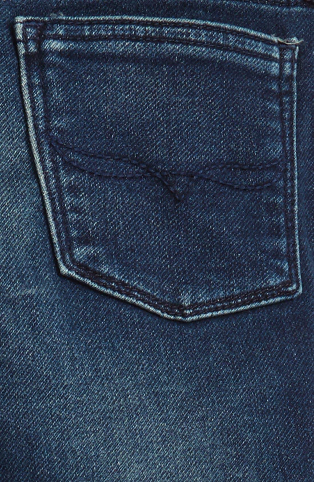 Alternate Image 4  - Ralph Lauren Moto Skinny Jeans (Toddler Girls & Little Girls)