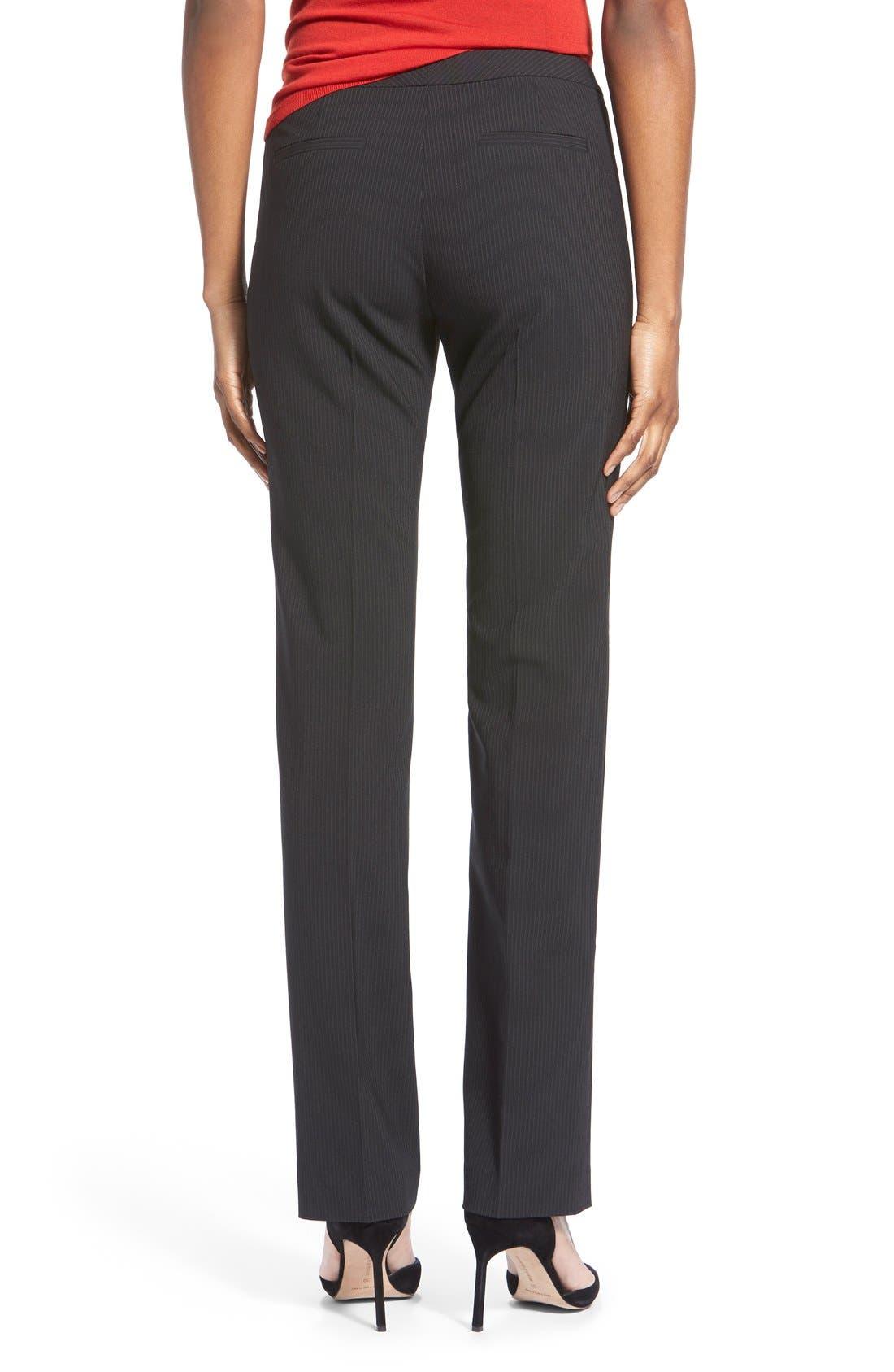 Alternate Image 3  - Halogen® Pinstripe Stretch Suit Pants (Regular & Petite)
