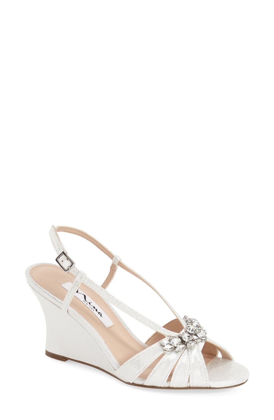 Nina 'Voleta' Wedge Sandal (Women)