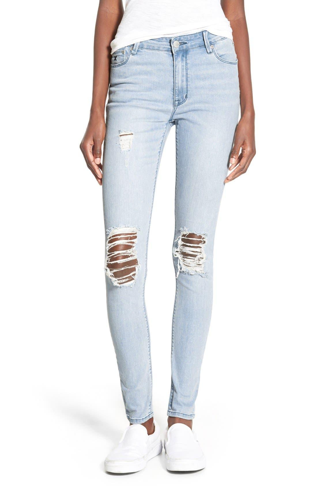 Alternate Image 1 Selected - RES Denim 'Kitty' Skinny Jeans (Love Moves Destroyer)