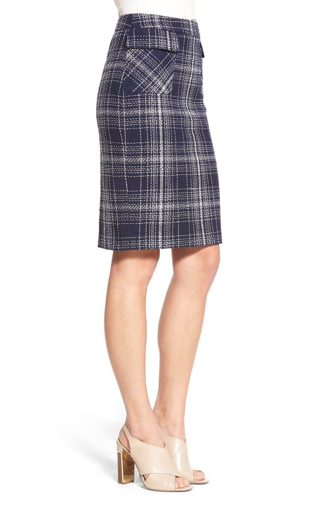 Alternate Image 4  - Halogen® Flap Pocket Tweed Pencil Skirt (Regular & Petite)