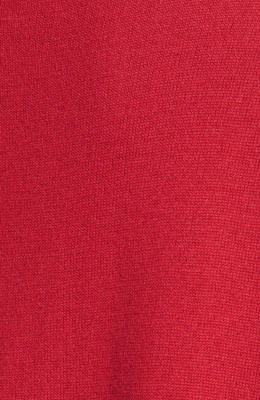 Alternate Image 3  - Vince CamutoRibbed Sleeve Mock Neck Sweater (Regular & Petite)