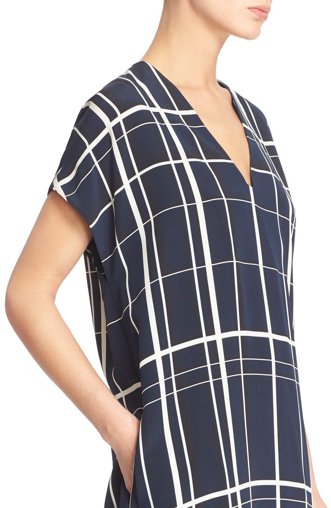 Alternate Image 4  - Vince Lattice Print Silk Shift Dress