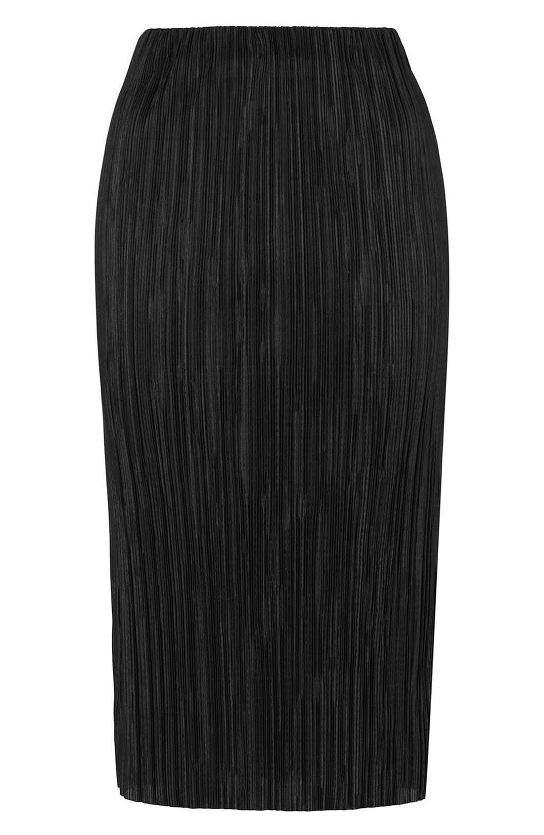 Alternate Image 4  - Topshop Plissé Tube Skirt