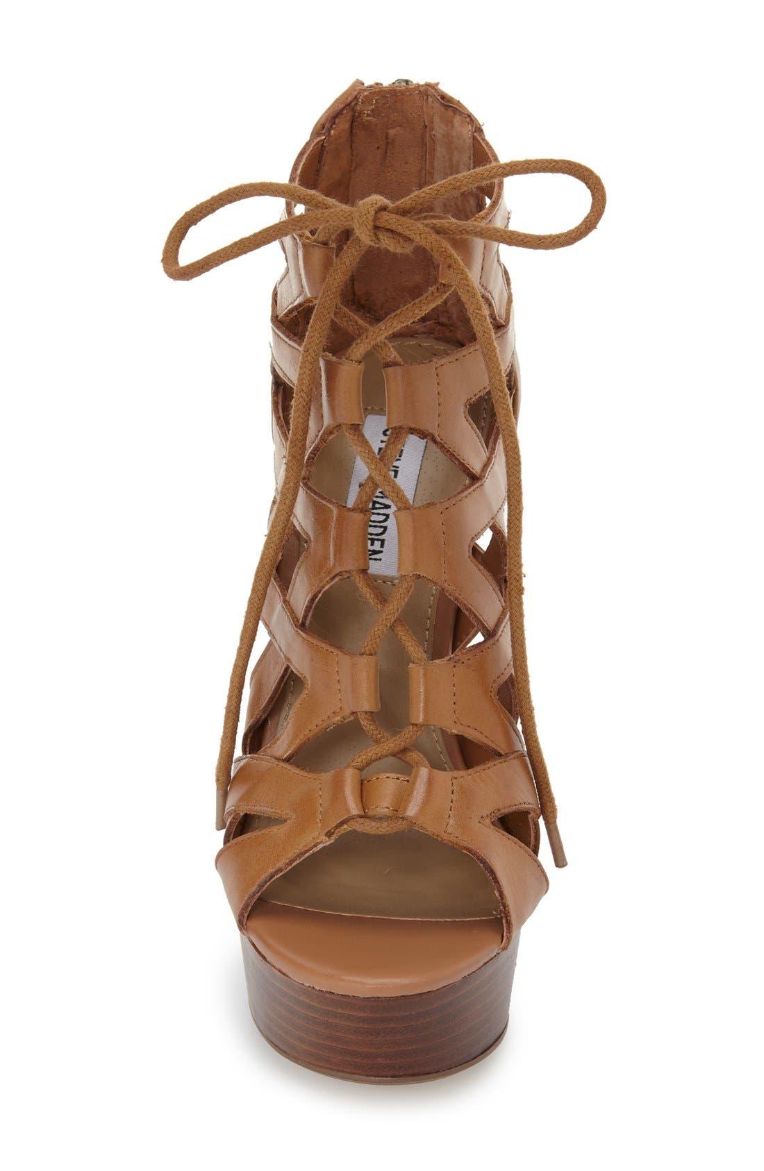 Alternate Image 3  - Steve Madden 'Dreamgirl' Lace-Up Sandal (Women)