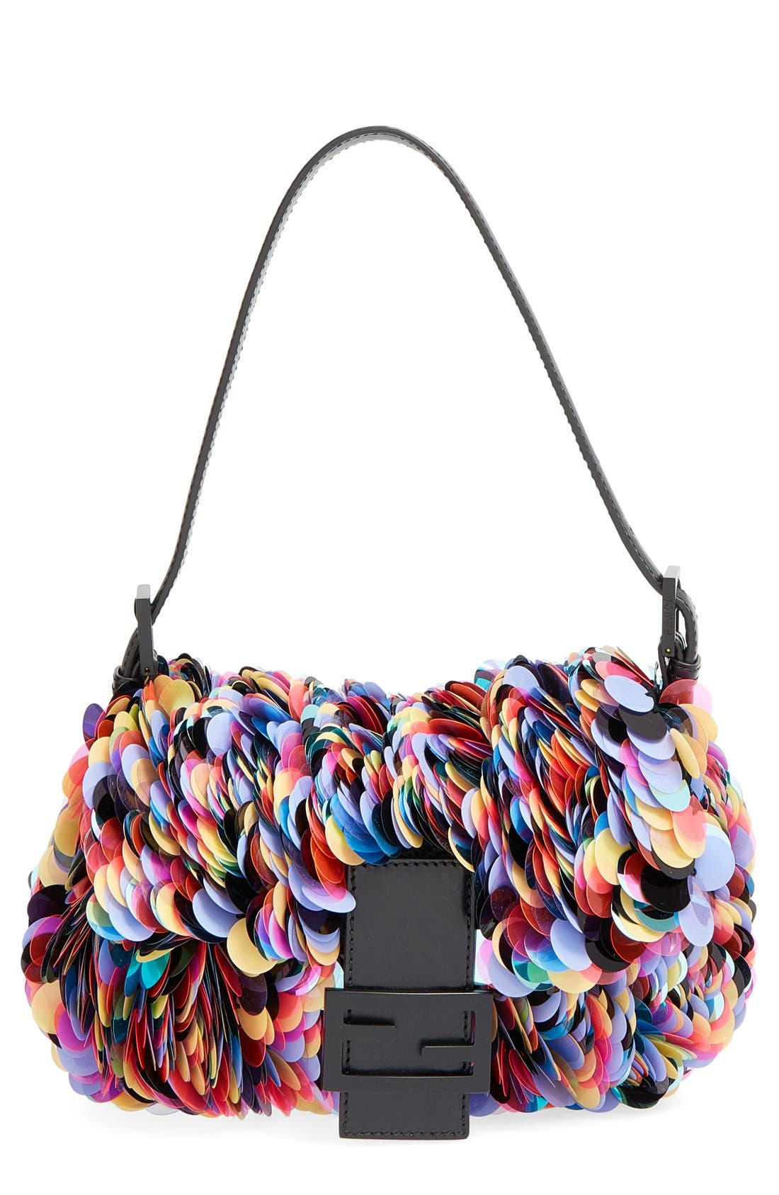 Main Image - Fendi Paillette Baguette Shoulder Bag