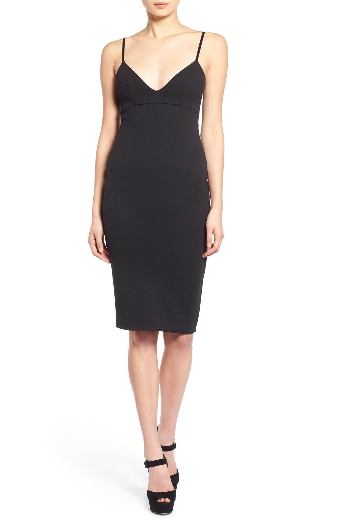 Main Image - Missguided V-Neck Body-Con Dress