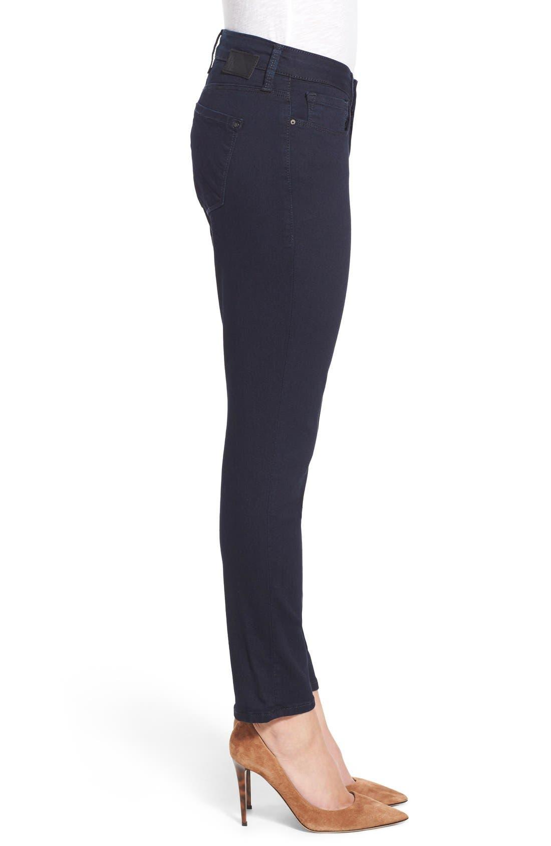 Alternate Image 3  - Mavi Jeans 'Alexa' Stretch Skinny Jeans (Dark Shanti) (Petite)