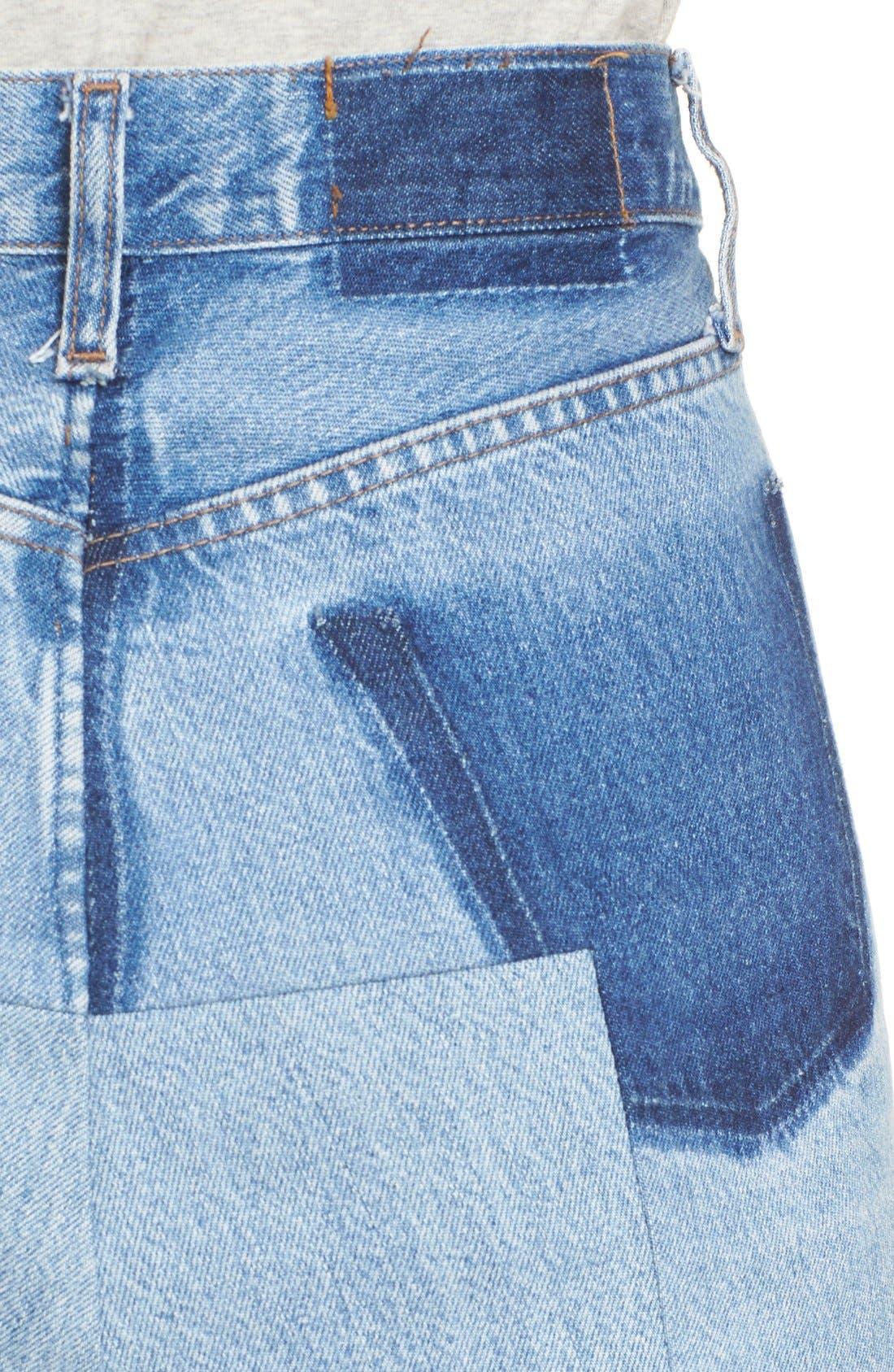 Alternate Image 5  - Vetements Denim Mini Skirt