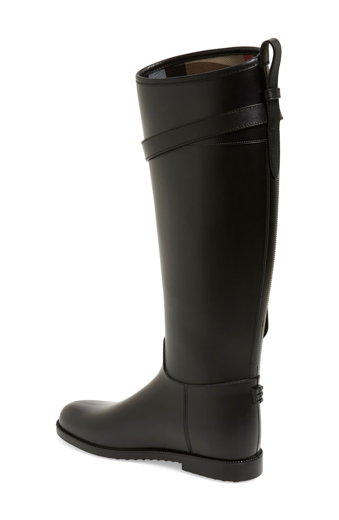Alternate Image 2  - Burberry Roscot Waterproof Riding Boot (Women)