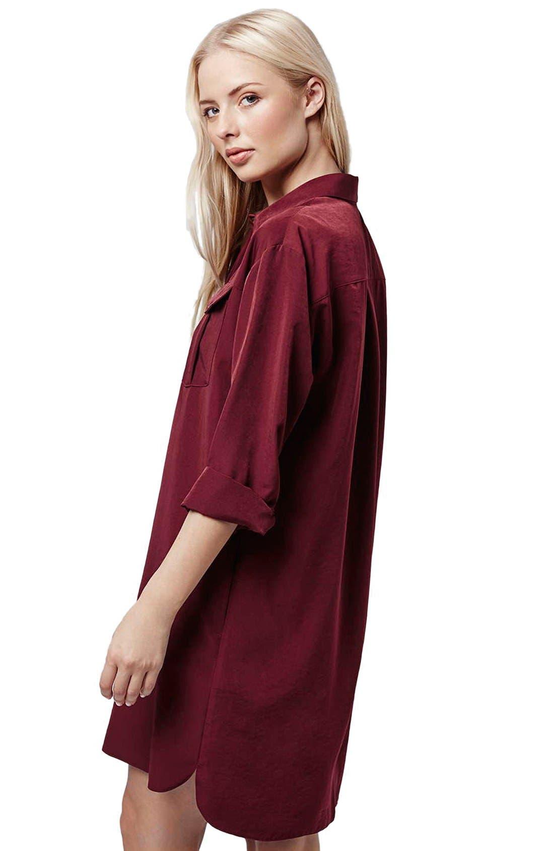 Alternate Image 2  - Topshop Oversize Shirtdress