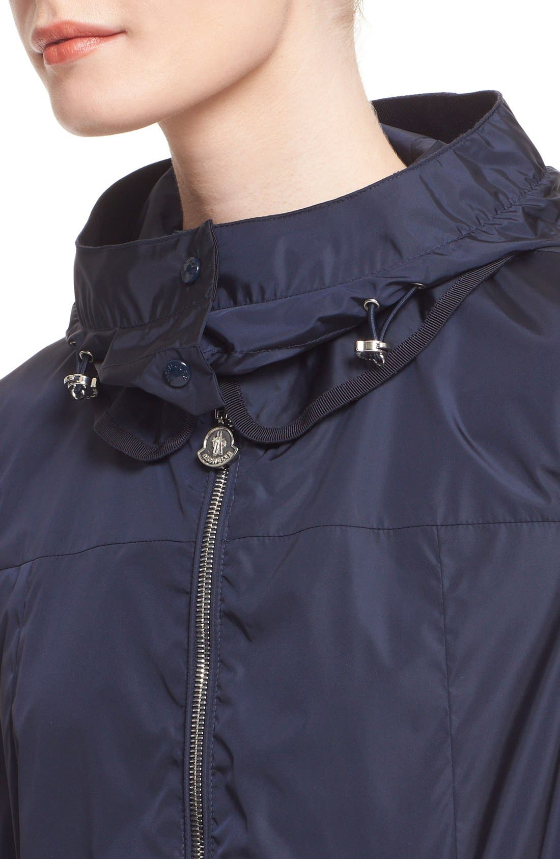 Alternate Image 6  - Moncler 'Limbert' Water Resistant Peplum Hem Hooded Rain Jacket