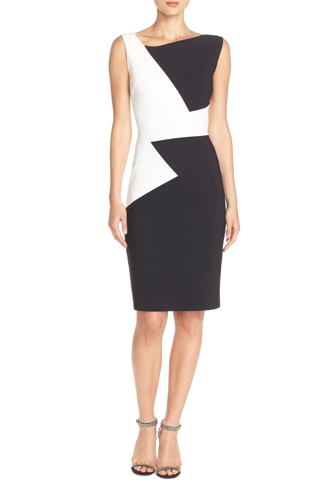 Alternate Image 4  - Chiara Boni La Petite Robe 'Giustina' Colorblock Jersey Sheath Dress