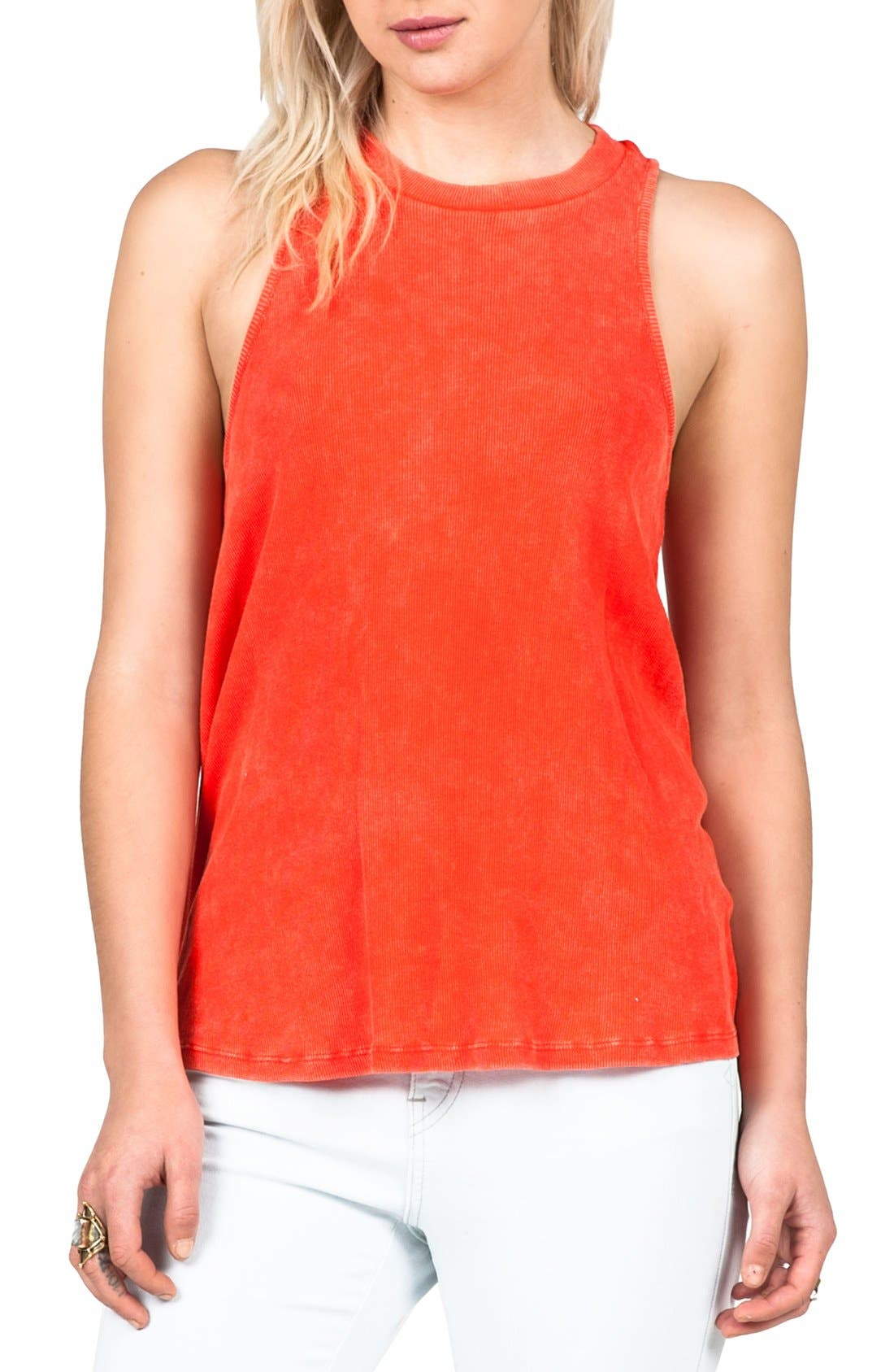 Main Image - Volcom 'Cover Your Basics' Ribbed Racerback Tank