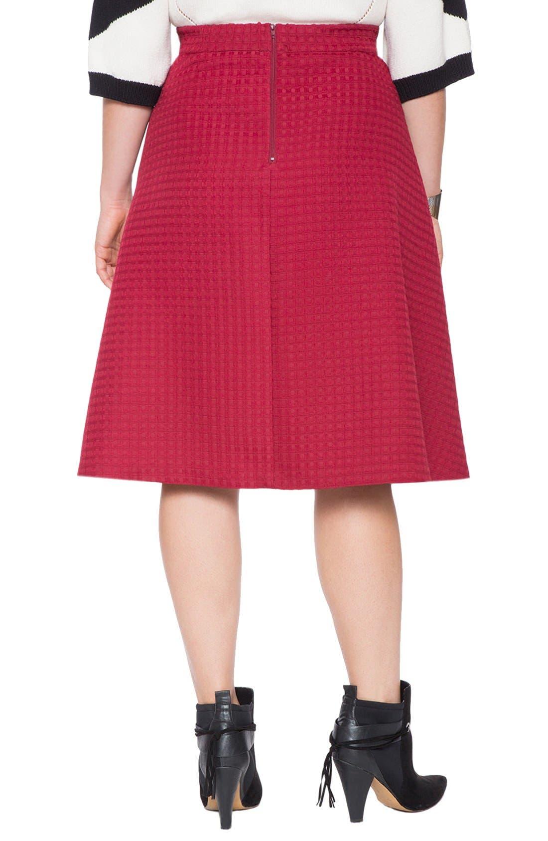 Alternate Image 2  - ELOQUII Brocade Circle Skirt (Plus Size
