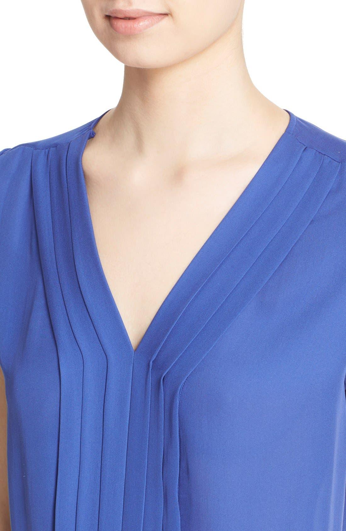 Alternate Image 4  - Joie 'Marcher' Pleated Silk Top