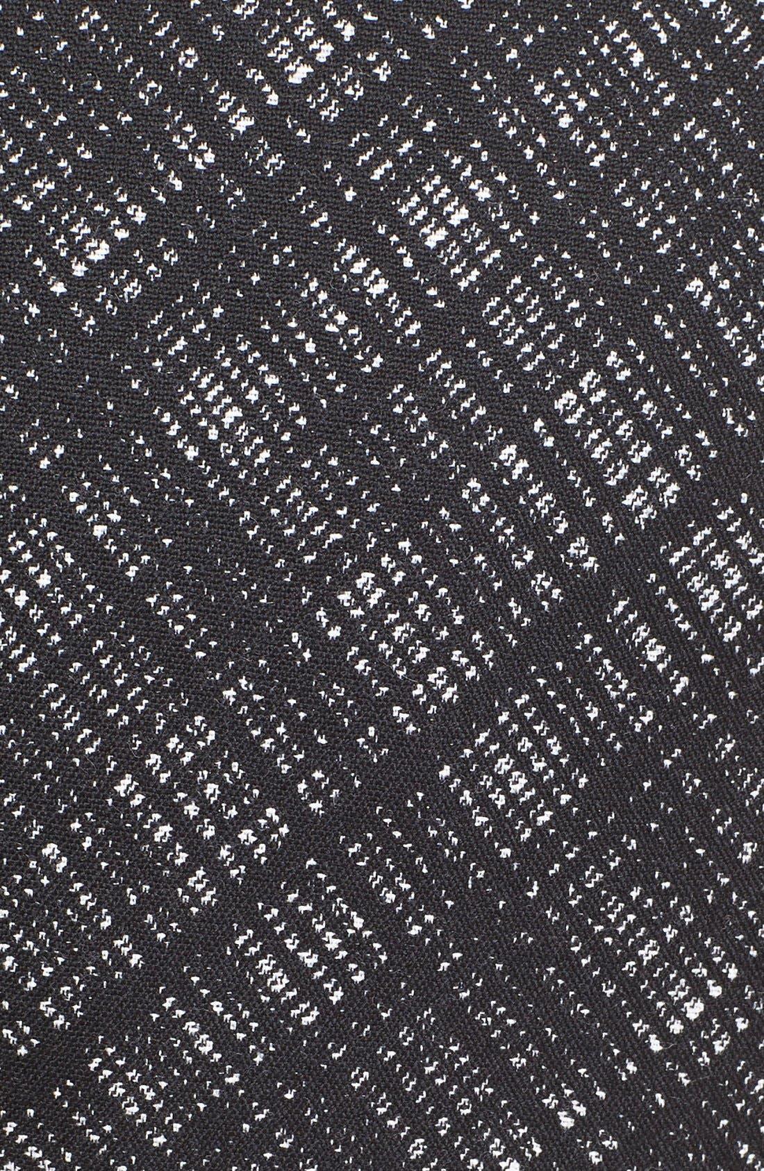 Alternate Image 3  - Michael Kors Jacquard Plaid Cap Sleeve Wool Jacket