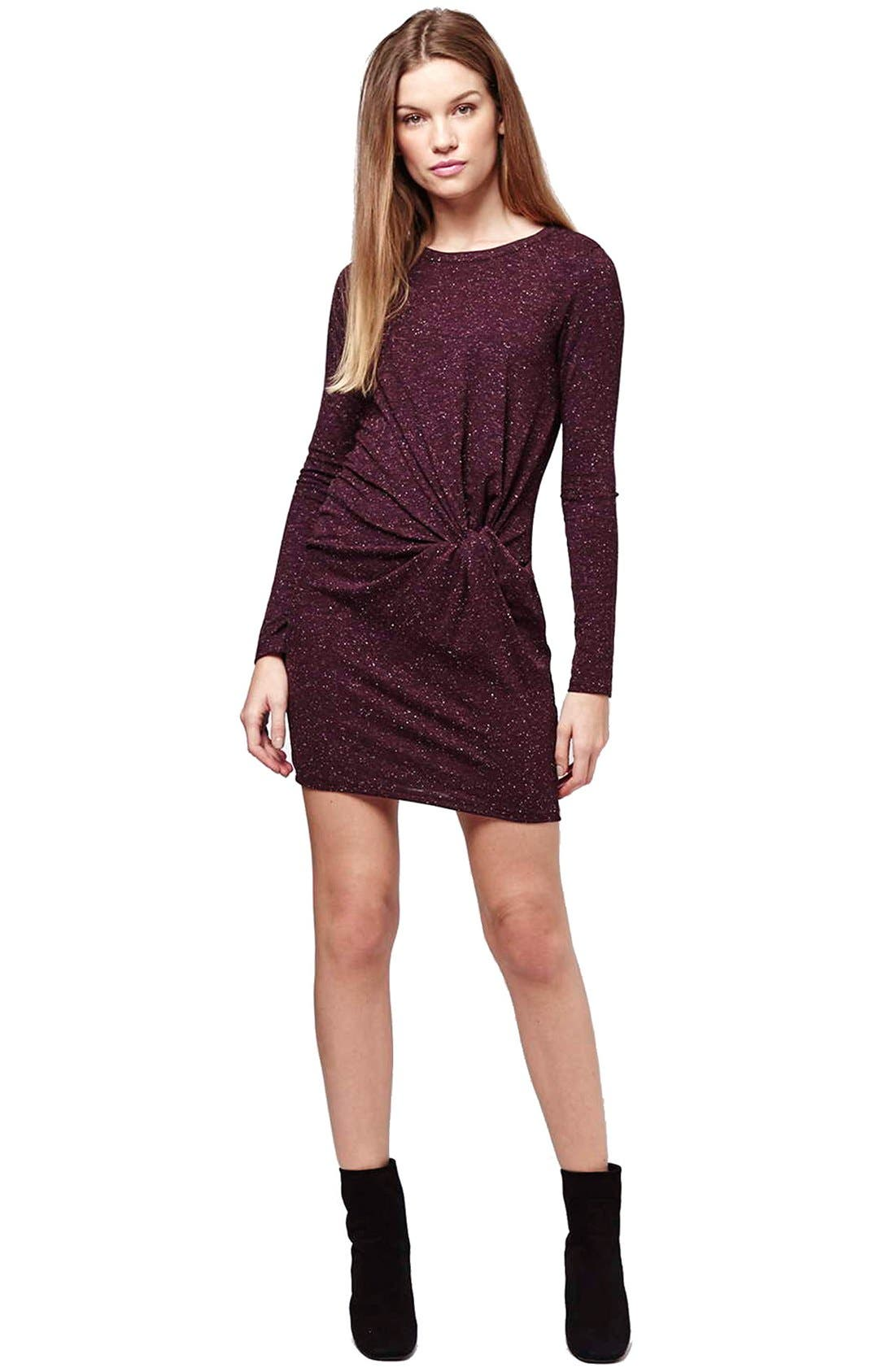Alternate Image 2  - Topshop Knot Front Body-Con Dress (Regular & Petite)